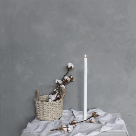 Storefactory Ekeberga ljusstake vit 40 cm