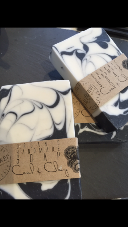 Kaliflower Organics Organic handmade soap - Coal & Clay black tea