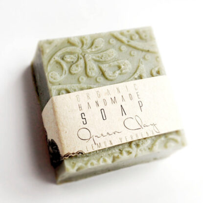Kalliflower organics Organic handmade soap - green clay lemonsgrass.jpg