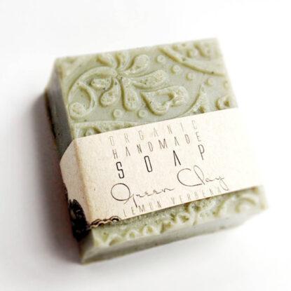 Kalliflower organics Organic handmade soap - green clay lemonsgrass.jpg