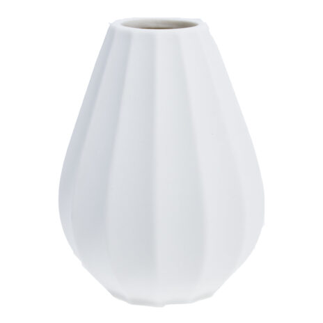 Storefactory Källsjö vas smal låg vit