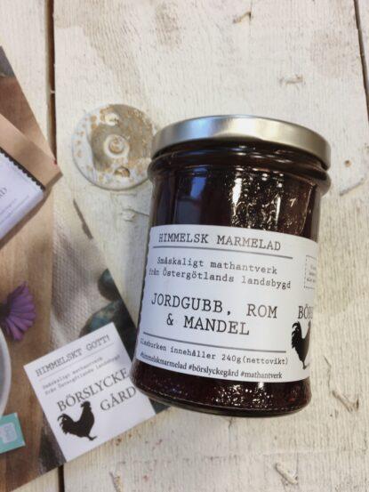 Börslycke Gård Himmelsk marmelad Jordgubb, rom och mandel
