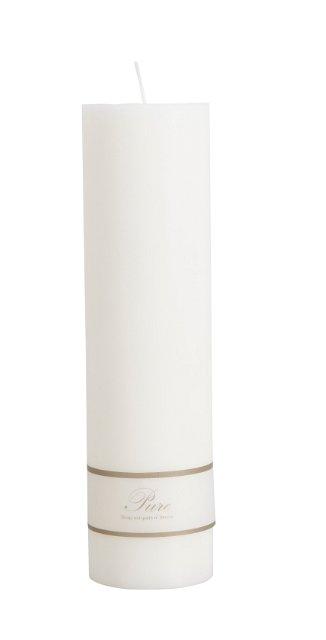 Stearinljus Pure vit 8 x 25 cm