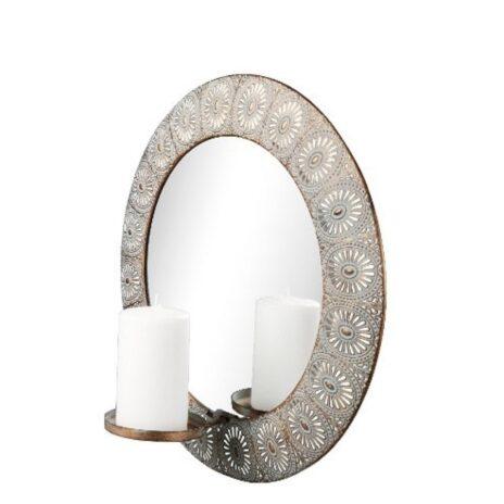 Spegel med ljus Esmeralda