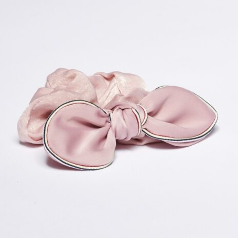 Scrunchie snodd Elin rosett rosa