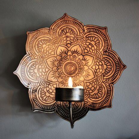 Majas Cottage Väggljusstake Mandala Antik 22 cm
