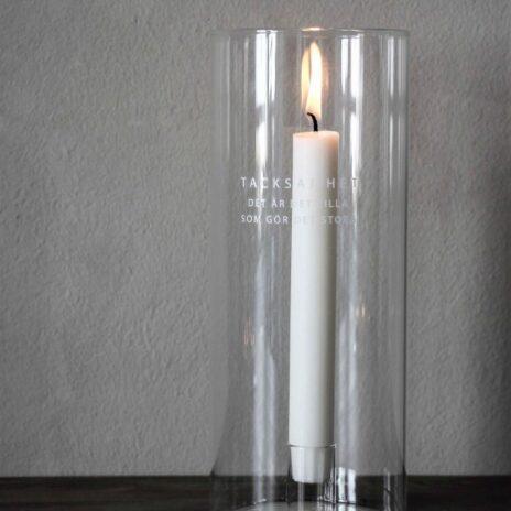 Majas Cottage ljuslykta Tacksamhet glas