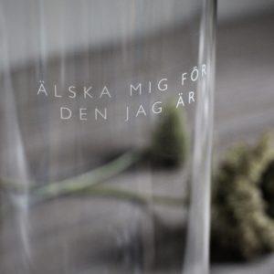 Majas Cottage Glaslykta Älska mig för den jag ä