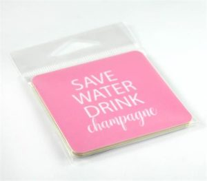 Magnet - Save water drink champagne - rosa