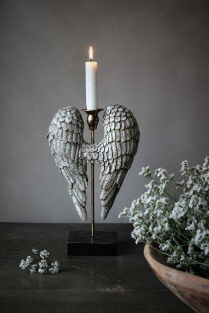 Majas Cottage ljusstake angelwings baksida