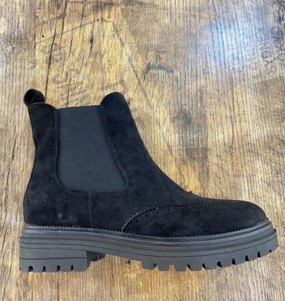 Boots svart konstmocka