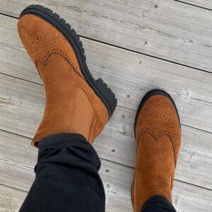 Boots konstmocka cognac