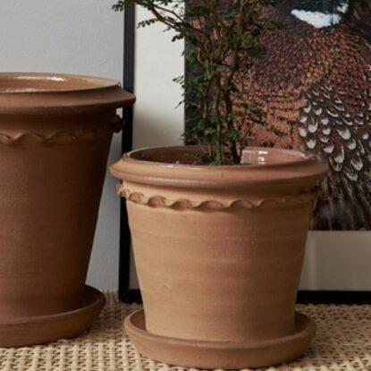Kruka Tuva terracotta miljö