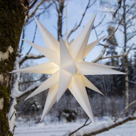 Julstjärna 3D Alice utomhus