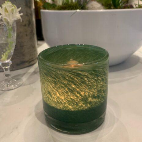 Ljuslykta Nilla grön 8 cm