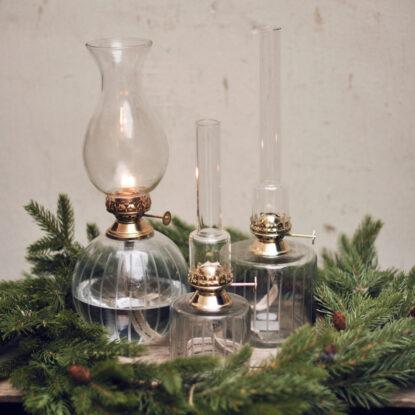 Fotogenlampa glas guld 3
