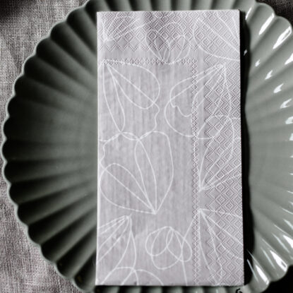 Storefactory Servett Bjuda beige blad 2