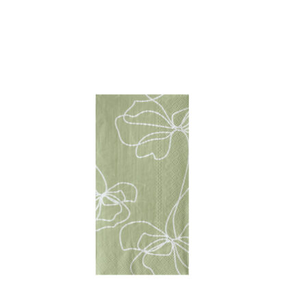 Storefactory Servett Bjuda blomma grön 3