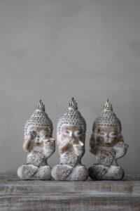 Majas Cottage Monks see speak hear no evil