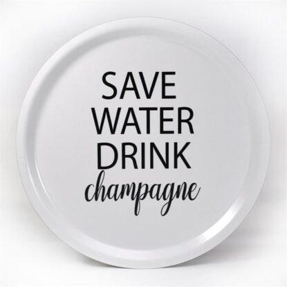 Bricka Save Water vit