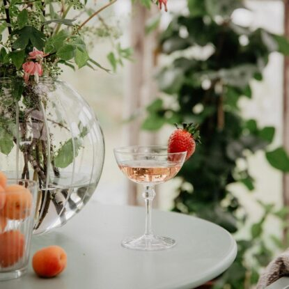 Champagneglas Kerstin lågt miljö