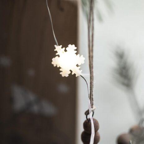 Ljusslinga snöflingor miljö